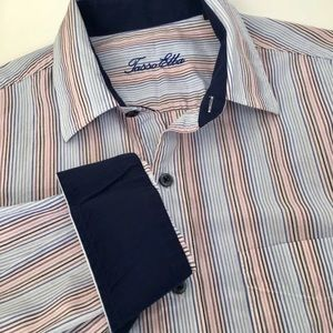 🐾🐾 Tasso Elba Shirt White/Blue/Red/Pink Striped